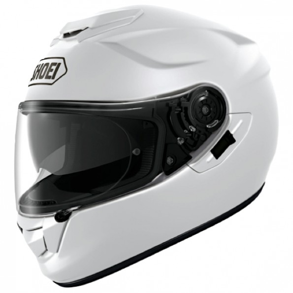 Casque de moto GT-Air Uni de chez Shoei en Metal White - Vue de profil