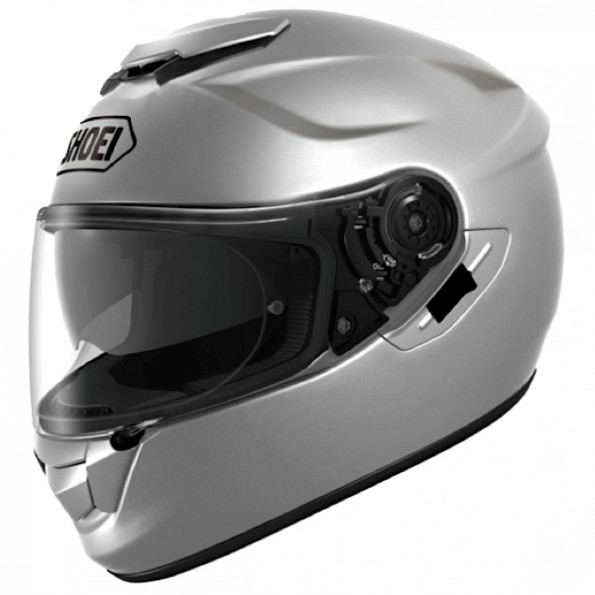 Casque de moto GT-Air de chez Shoei en Metal Light Silver - Vue de profil