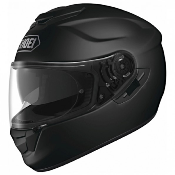 Casque de moto GT-Air de chez Shoei en Candy Mat Black - Vue de profil