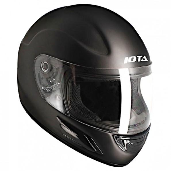 Casque enfant de moto et scooter Junior Kid de chez Iota en Noir Mat - Vue de profil