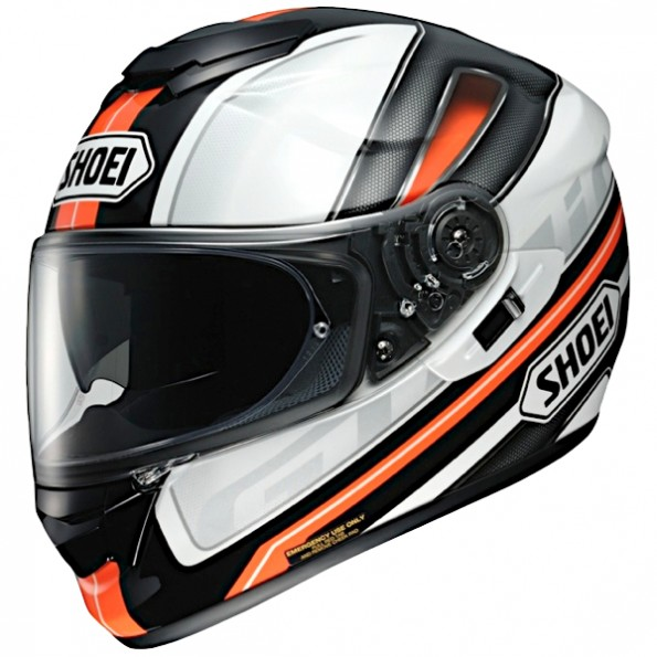 Casque de moto GT-Air Dauntless TC-8 de chez Shoei en Black Orange - Vue de profil