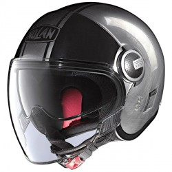 Casque Nolan N21 Visor Duetto Scratched Chrome Promo