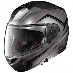 Casque Nolan N104 Absolute Como Scratched Chrome N-Com