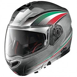 Casque Nolan N104 Absolute Italy Scratched Chrome N-Com