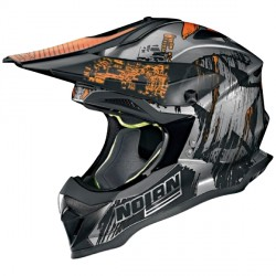 Casque Nolan N53 Cliffhanger Scratched Chrome
