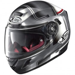 Casque X-lite X-702 GT Ofenpass Scratched Chrome N-Com