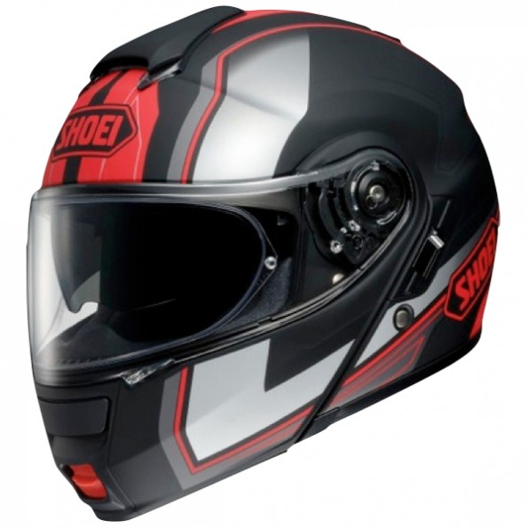 Casque de moto neotec Imminent TC-1 de chez Shoei en black mat red - vue de profil