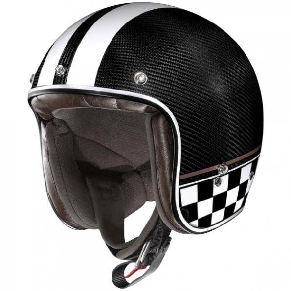 Casque jet de moto et de scooter X-201 Ultra Carbon Willow Springs de chez X-lite en Carbon - Vue de profil