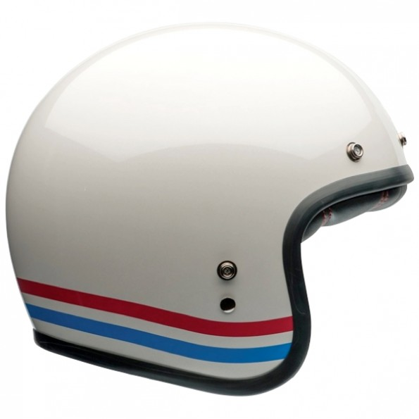 Casque de moto Custom 500 Stripes de chez Bell - de profil