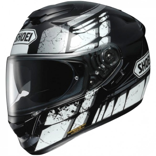 Casque de moto GT-Air Patina TC-5 de chez Shoei en Black Grey - Vue de profil