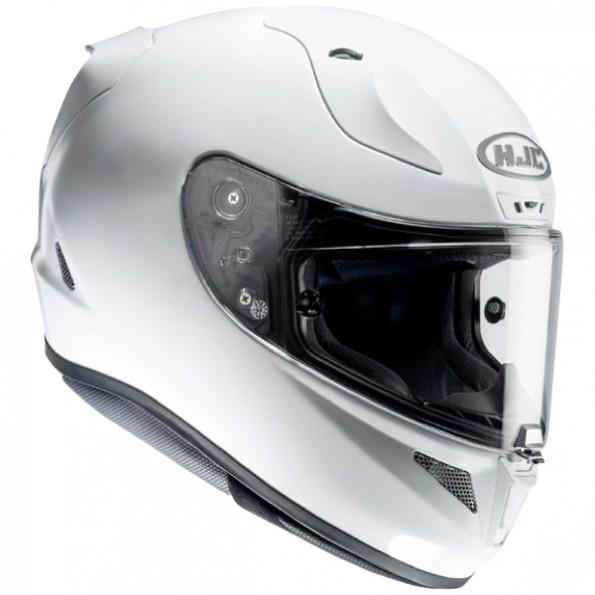Casque de moto RPHA11 Metal de chez HJC en Pearl White - Vue de profil