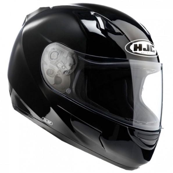Casque intégral de moto et de scooter CL-SP de chez HJC en Solid Black - de profil