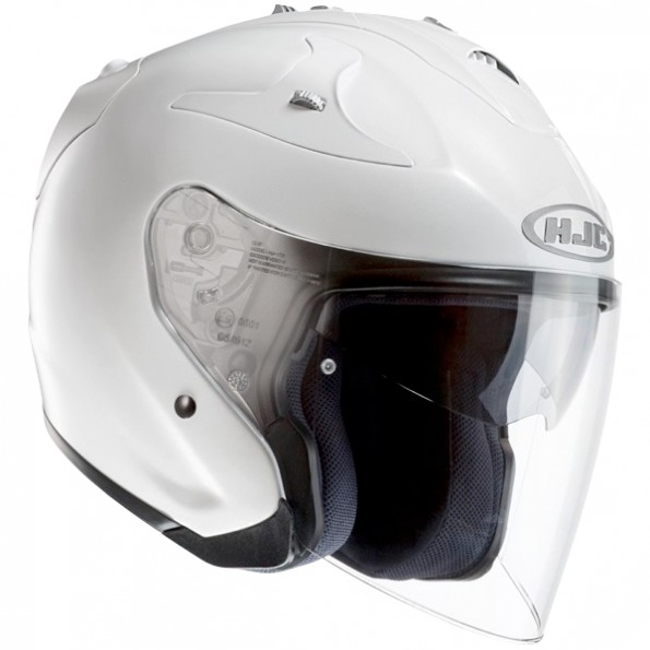 Casque de Moto et Scooter FG-JET de chez HJC en White - vue de profil