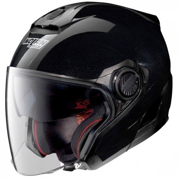 casque de scooter et moto N40.5 Special N-Com de chez Nolan en Metal Black - Vue de profil