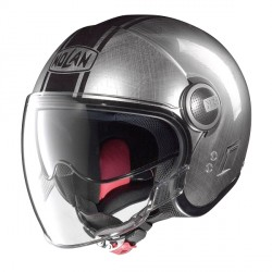 Casque Nolan N21 Visor Duetto Scratched Chrome