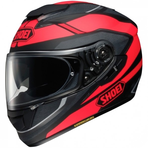 casque de moto GT-Air Swayer TC-1 de chez Shoei en Black Red - Vue de profil