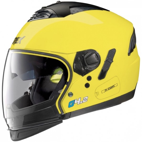 Casque de moto G4.2 Pro Kinetic de chez Grex en Led Yellow - de profil