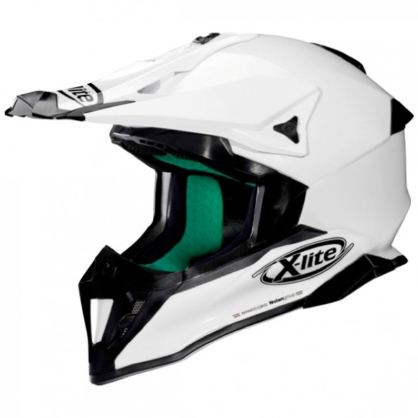 Casque de Moto Cross X-502 Start de chez X-lite en Metal White - Vue de profil