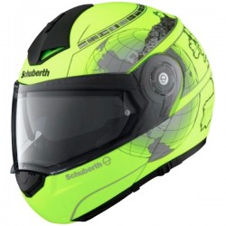Casque Schuberth C3 Pro Europe Matt Fluo Yellow