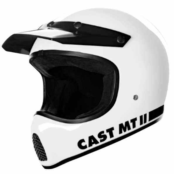 Casque cross Cast MTII 05R - Blanc