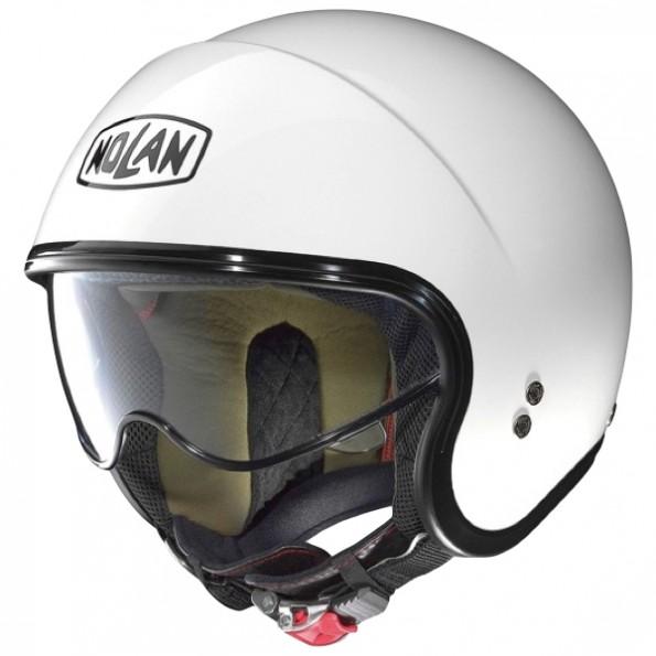 Casque de moto et de scooter N21 Classic de chez Nolan en Metal White - Vue de profil