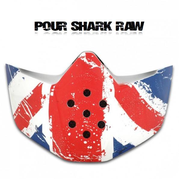 Mentonnière Mask Casque Shark Raw déco UK