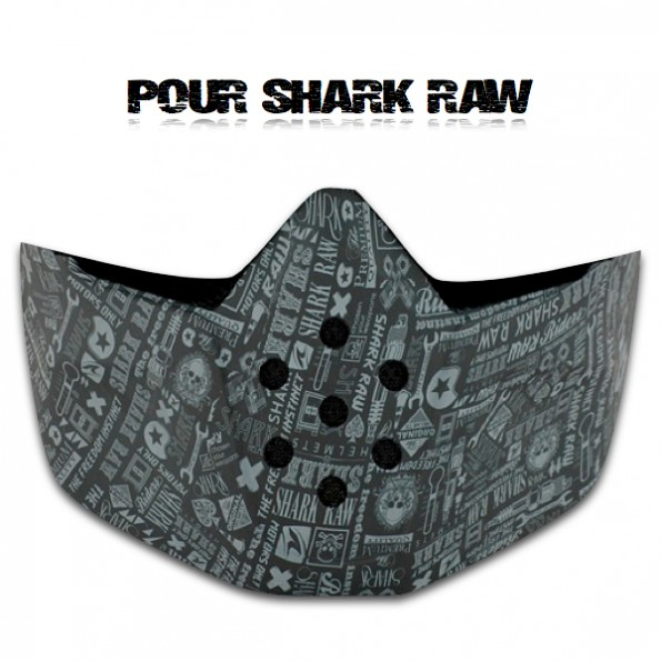 Mentonnière Mask Casque Shark Raw déco All Over