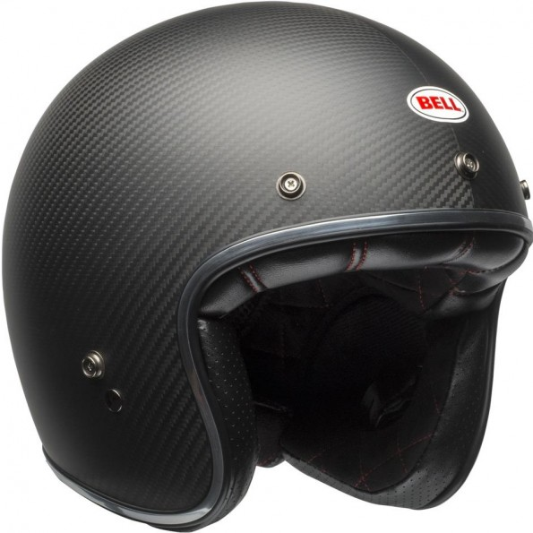 Casque Jet Bell Custom 500 Carbon Noir Mat