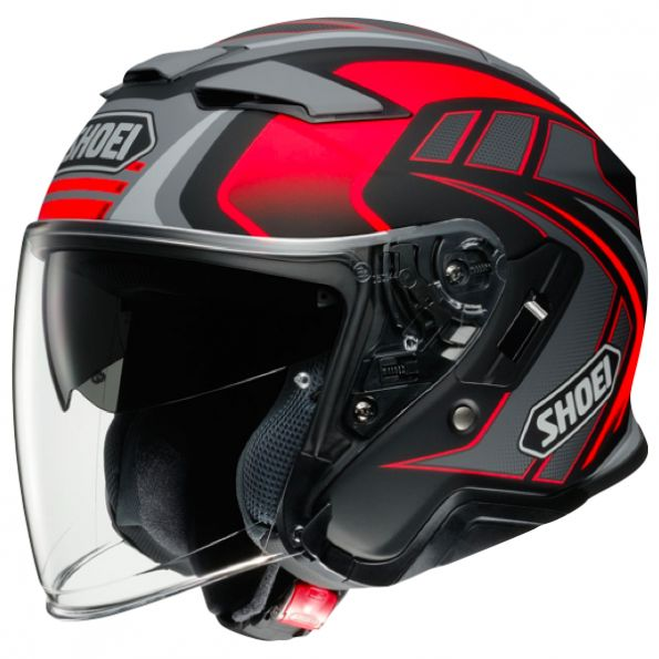 Casque Jet Shoei J-Cruise 2 Aglero TC-1 Rouge Mat