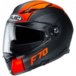 Casque Intégral HJC F70 Mago Noir Mat Orange MC7SF