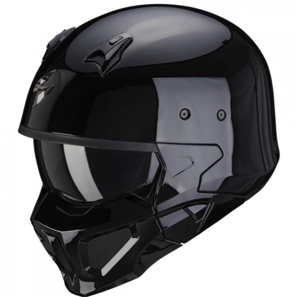 Casque Jet Scorpion Exo Convert X Noir