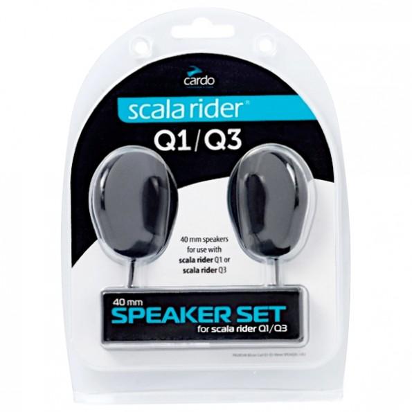 Ecouteurs 40mm pour Kit Bluetooth Scala Rider Q1 Q3 Packtalk de chez Cardo pour Casque de Moto et Scooter