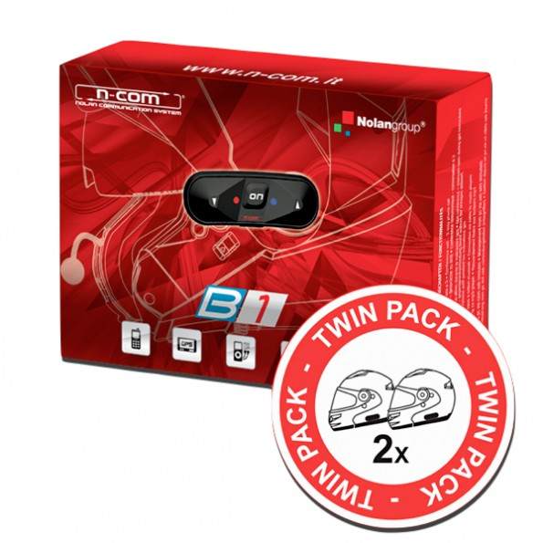Communication N-Com Bluetooth B1 Duo Twin Pack sur Nolan N44 et N104